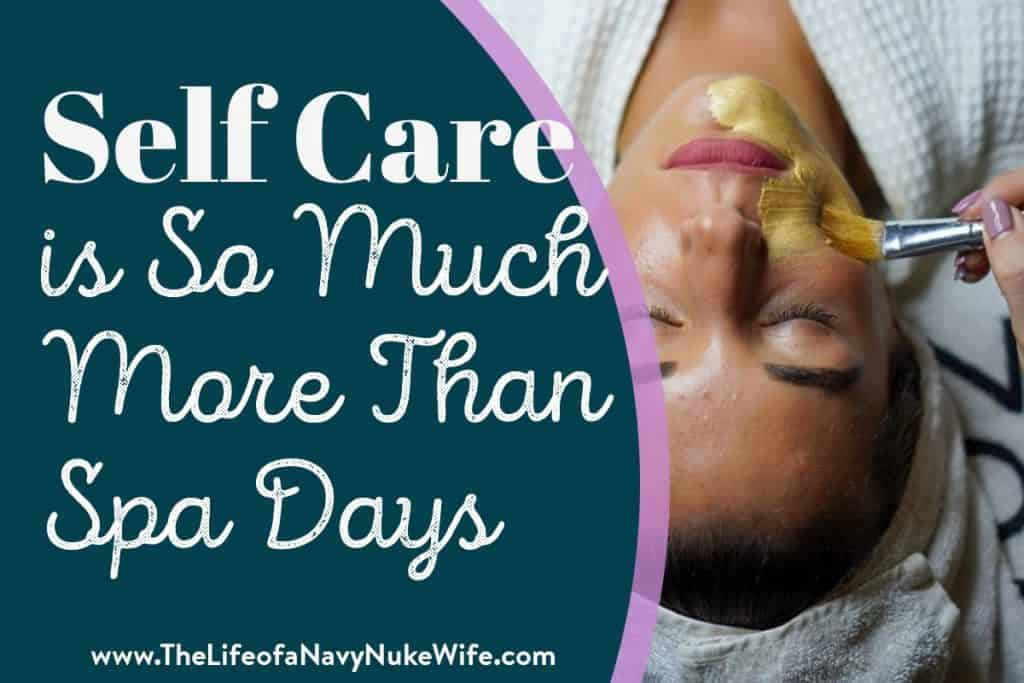 title image, self care is so much more than spa days