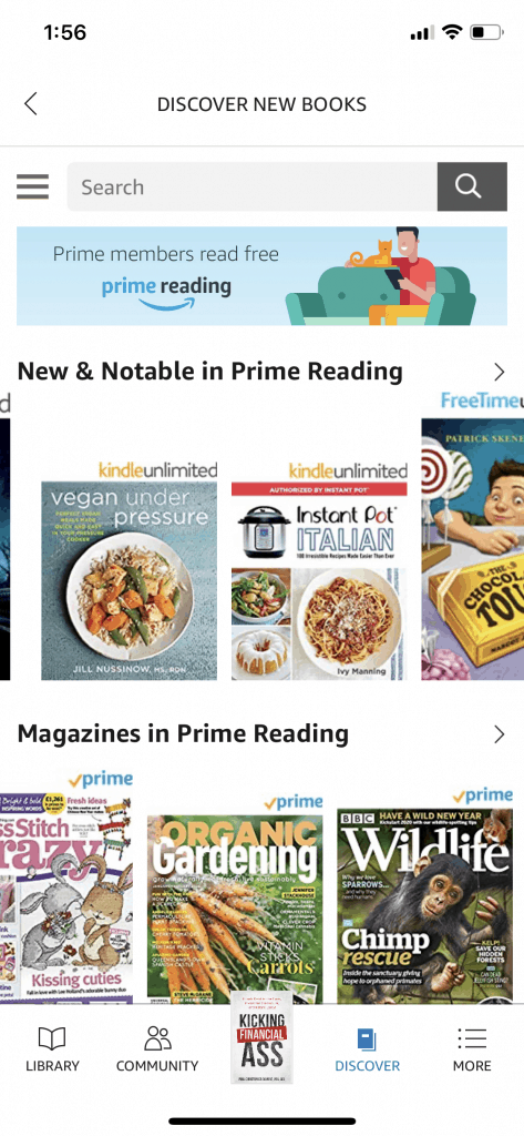 Several Books and magazines available now from Prime Reading included with your prime membership.