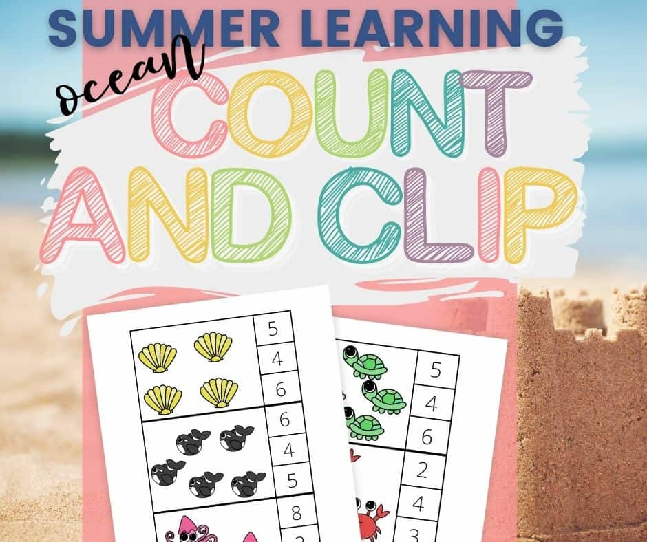 ocean count and clip cards