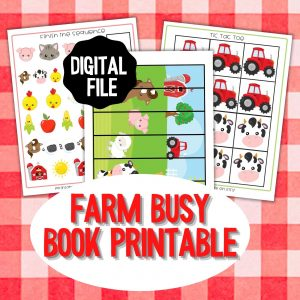 Farm Busy Book Printables in the Shop
