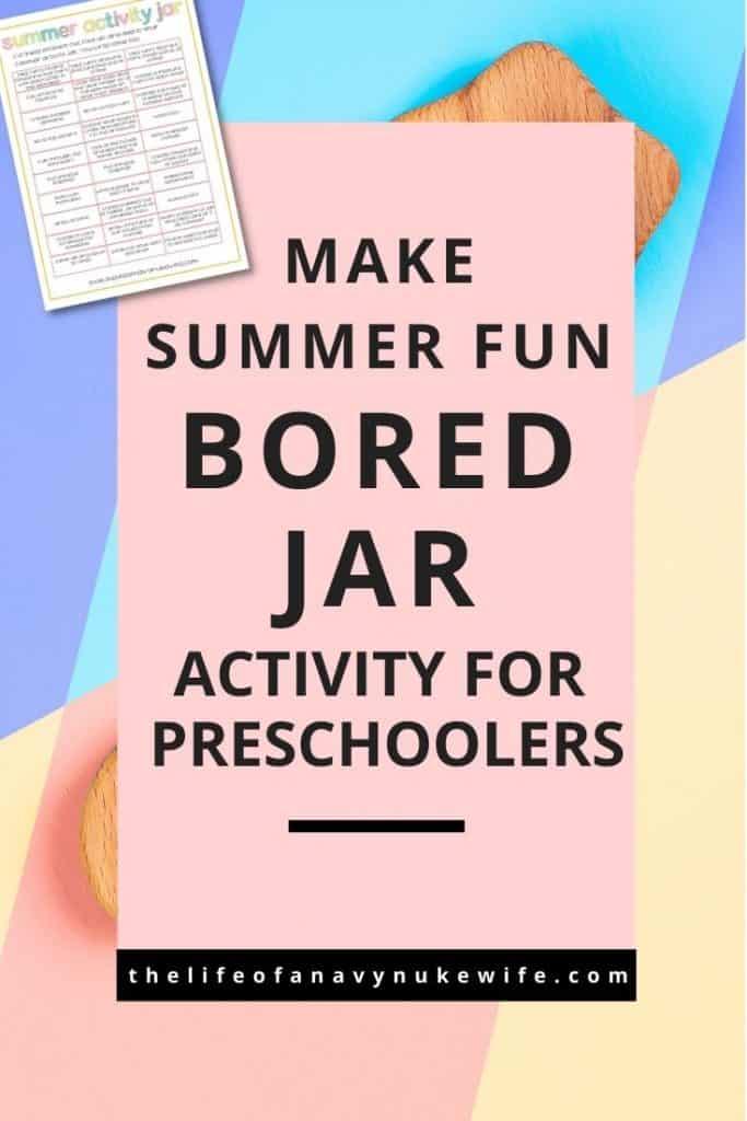 bored jar activity printables