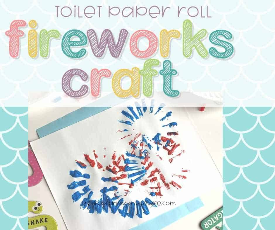 Fourth of Jully Firework Painting Activity for Preschoolers