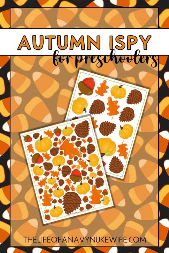 Autumn ISpy Printable for Preschoolers