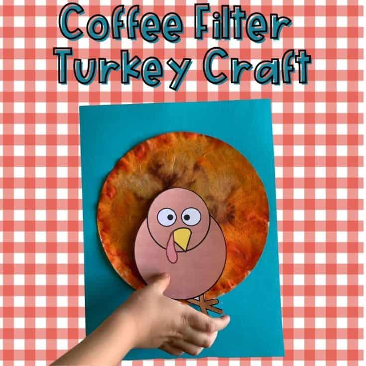 Coffee Filter Turkey Craft with Kids