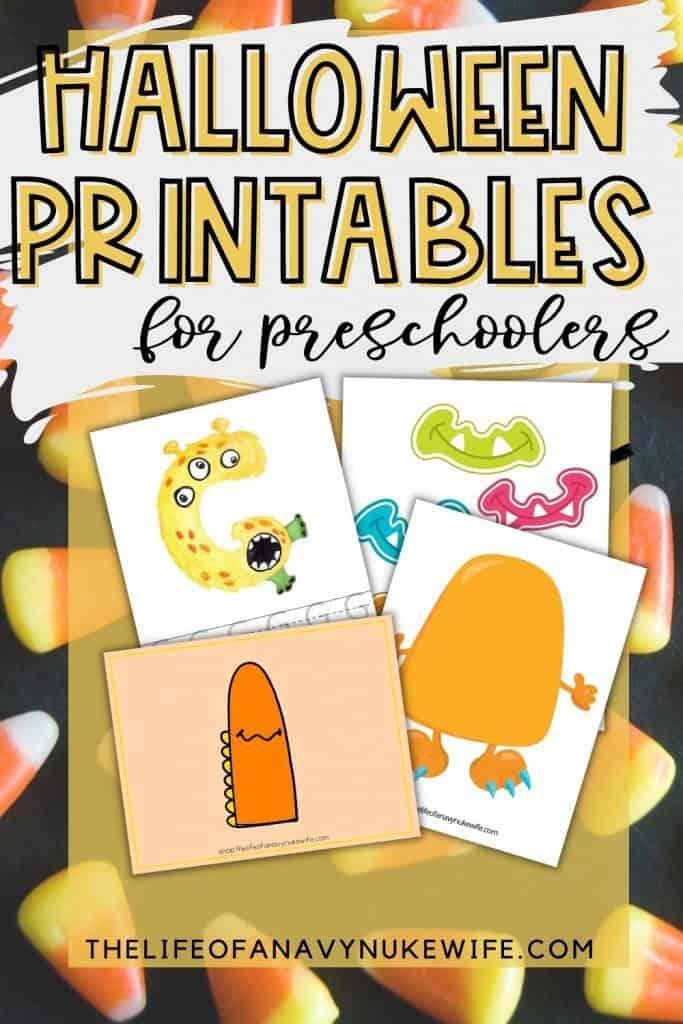 Halloween Preschool Printables Pin Image